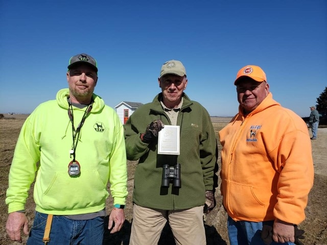 Timothy Powell, vp, and Bill Billy Butler Sr., president, with Diamond Member Bob Bagley