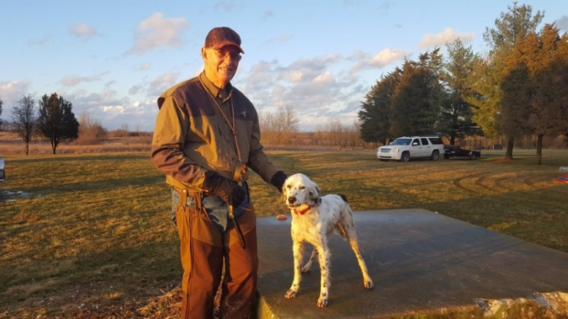 John Settles and Patch; Puppy 2nd Place